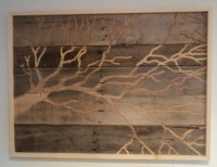 Rustic Indoor Outdoor Recycled Wood Wall Art