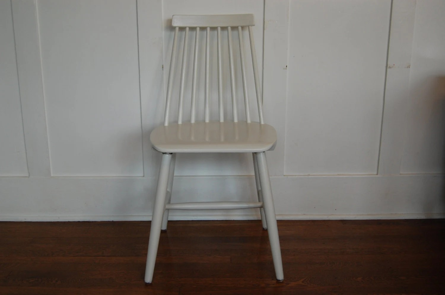 windsor style chairs bungee chair container store wooden painted white by midcentury55