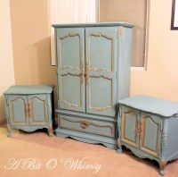 On Sale Gorgeous Blue and Gold French Bedroom Set by ...