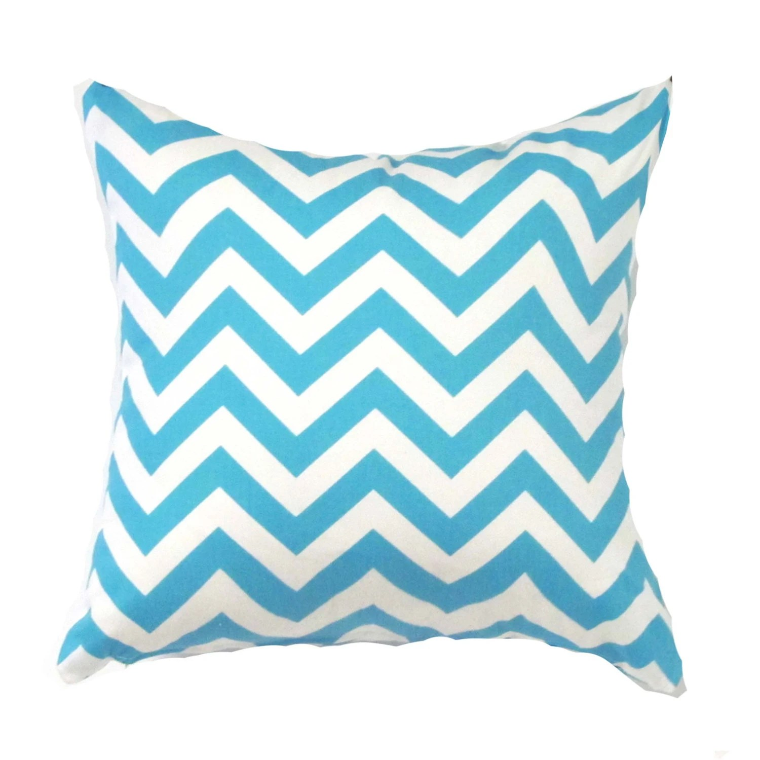 Blue Pillow Cover Blue Zigzag Pillow Blue Chevron