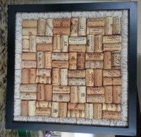 Framed Wine Cork Board Wall Decor with by TheKinneryKollection