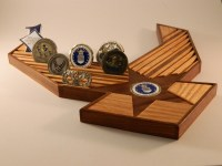 Air Force 40 Challenge Coin Holder by WoodSimplyMade on Etsy