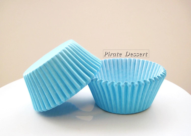 CUPCAKE LINERS Malibu BLUE Cupcake Papers By PirateDessert