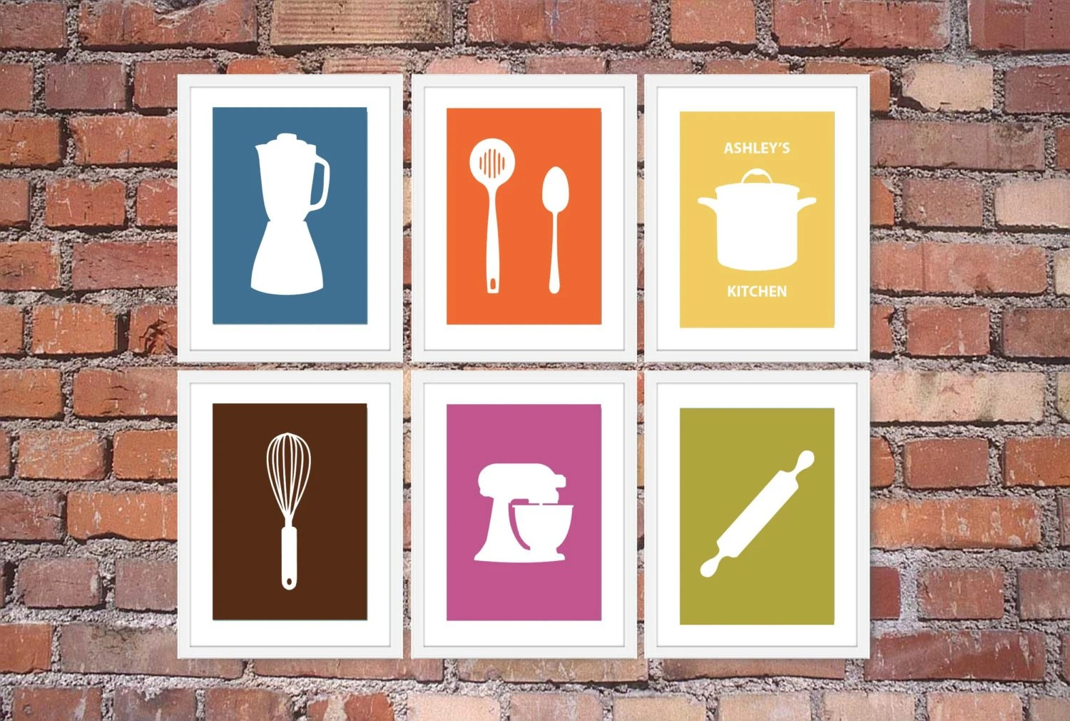 artwork for kitchen ninja complete system modern art print set utensil appliance silhouettes