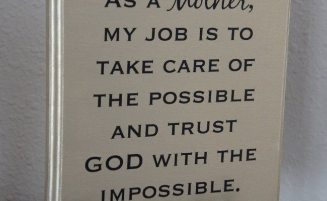 Wall Decor As A Mother My Job Plaque Trust God With The