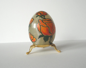 Home Decoration Easter  decoration  Easter egg  Hand painted  egg Flowers  Easter egg Natural stone egg - decorartarina