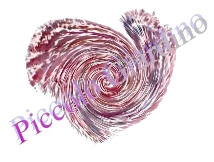 Red White swirled Heart print digital from original painting Valentine's Day Print - ilPiccoloGiardino