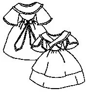 PI304 1800s Girl's Dress with Fichu Sewing Pattern by