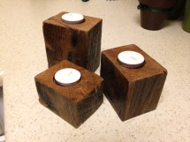 Rustic Candle Holders Sweet Pallet Block Style With Nice