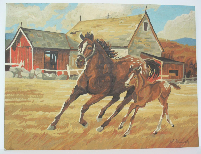 Paint By Number Horses Paintings Foal West Western Barnyard