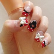 minnie mouse nails 3d fake