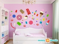 Jumbo Candy Fabric Wall Stickers & Wall Decals for by ...