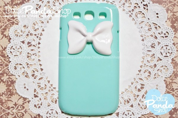Samsung Galaxy s3 i9300 Pastel Teal mint Green Cute Candy