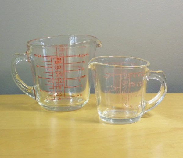 Glass Pyrex Measuring Cups With Handle 508 1 Cup And 516 2