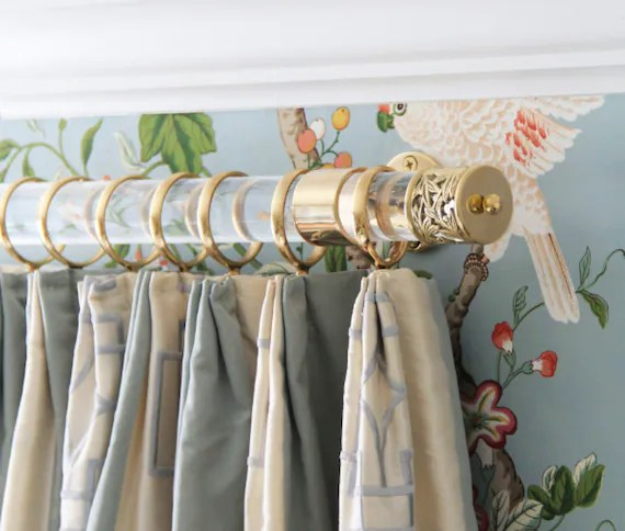 Our House DIY Lucite Curtain Rods
