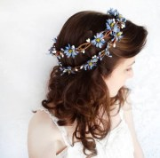 items similar blue flower crown
