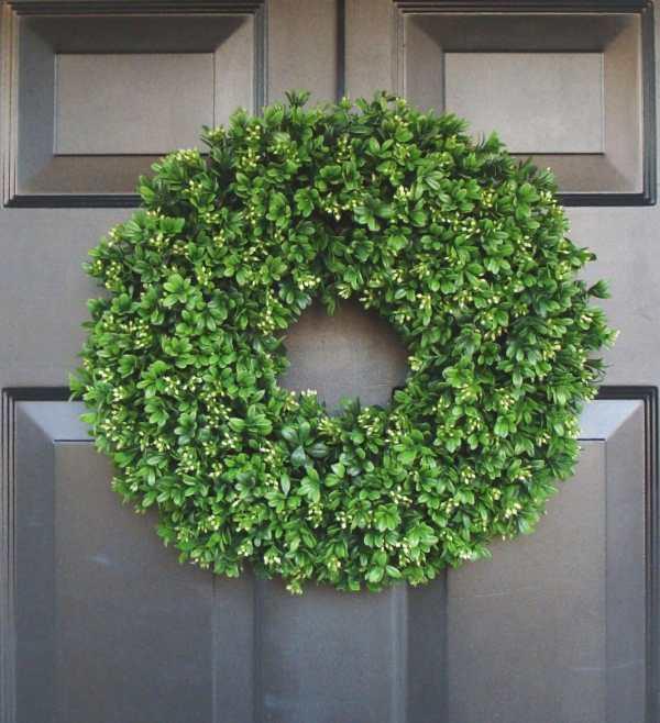 Artificial Boxwood Wreath 16 Front Door Wreaths Wedding