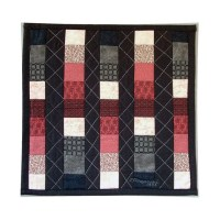 Abstract Art Quilt Wall Hanging Geometric Patchwork Columns 18