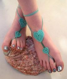 Crochet Barefoot Sandals Foot Jewelry