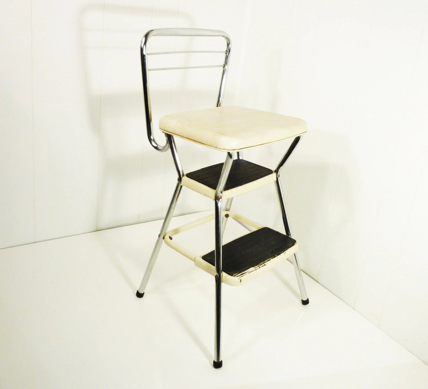 how to fold up a cosco high chair deluxe massage retro 50s vintage step stool kitchen