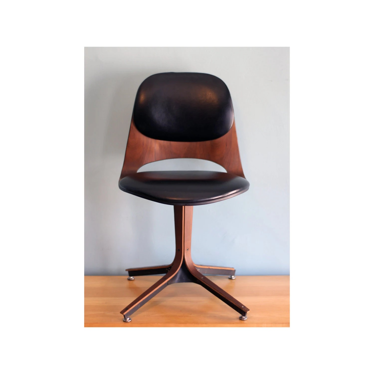 Swivel Desk Chairs Plycraft Swivel Desk Chair Mid Century Modern By