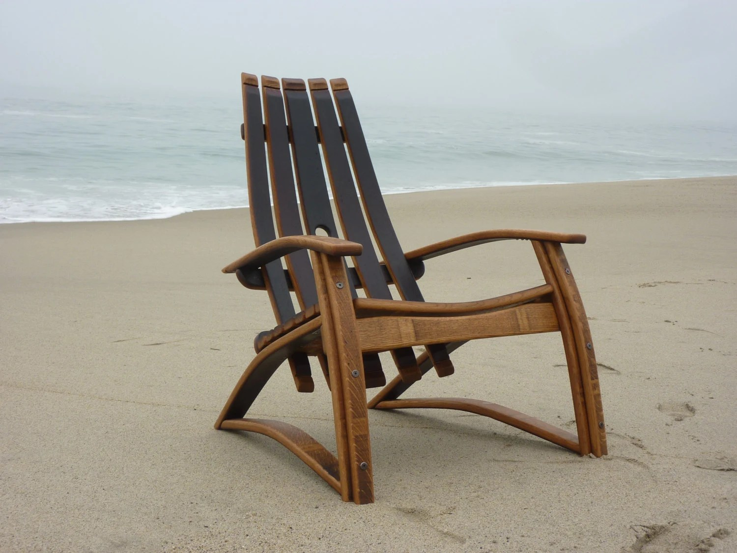 wine adirondack chair high for toddlers barrel stave