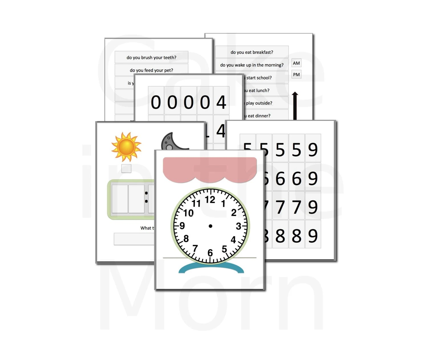 Clock File Folder Game Teaching Time Lesson Plan
