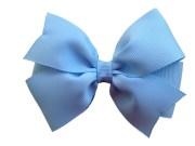 4 light blue hair bow