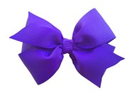 royal purple hair bow 4