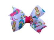 adorable flip flop hair bow summer