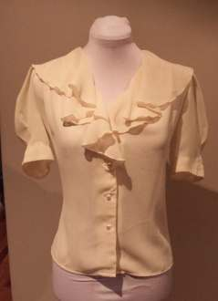 Repro Pale Lemon Blouse made from 30s Pattern