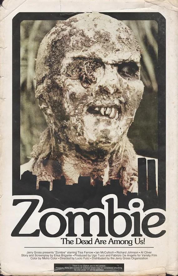 Lucio Fulci39s Zombie Movie Poster