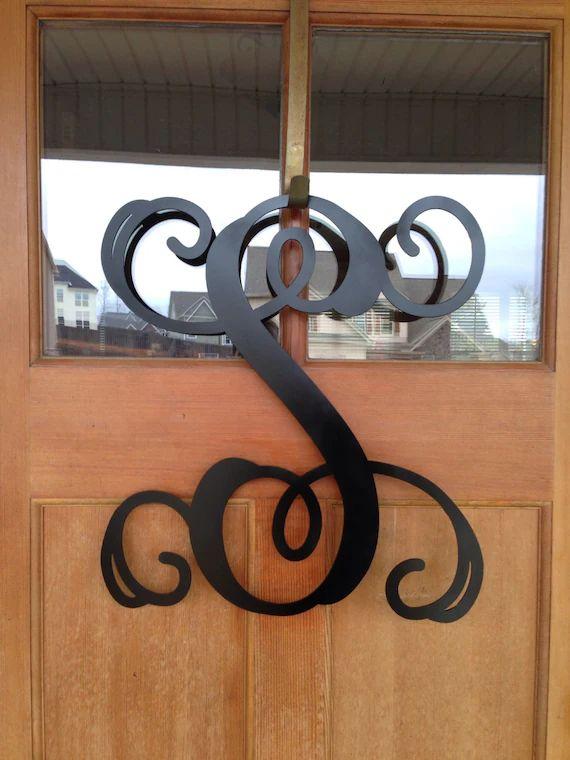 metal monogram door wreath front door wreath monogrammed