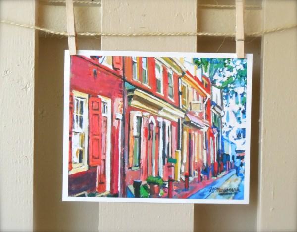 Philadelphia Painting. Art Print Town