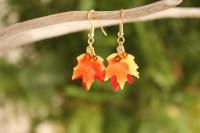 Fall Leaf Earrings Maple Leaf Earrings Autumn Earrings Fall