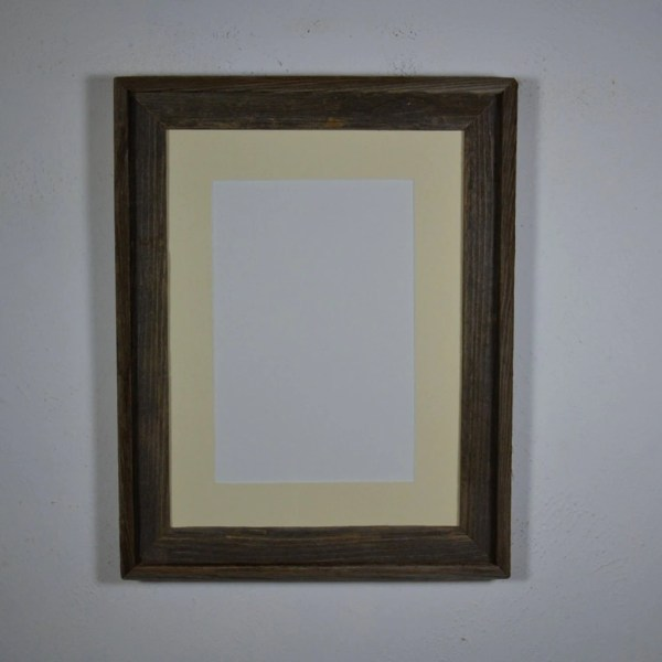 12x16 Wood Frame With 8x12 Mat Great Rustic Decor