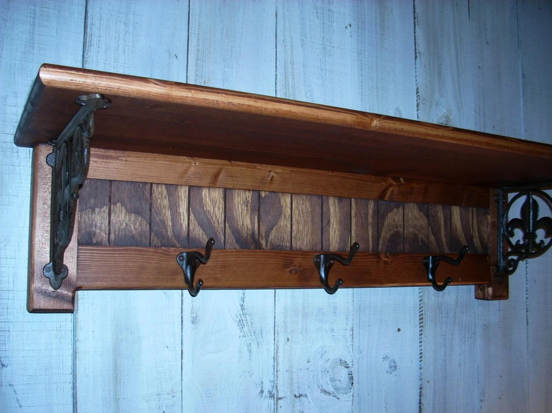 wall mounted chair rack aeron herman miller furniture shelves coat fleur de lis shelf