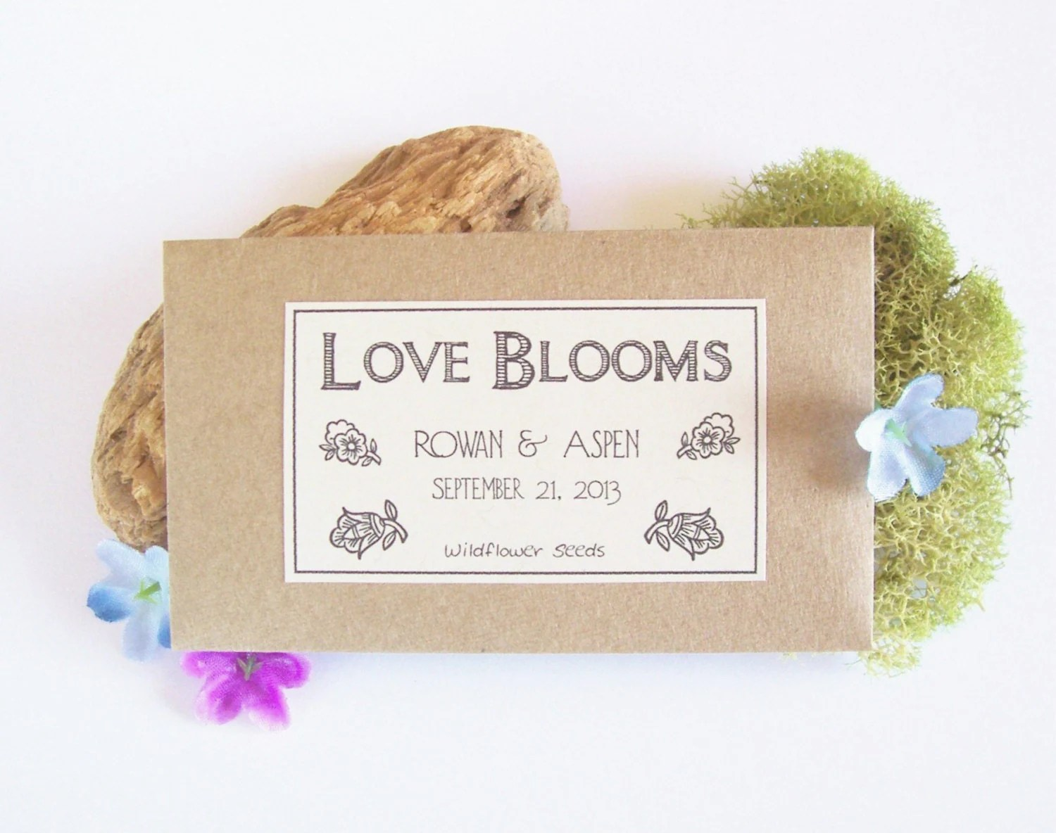 100 Flower Seed Wedding Favors Wedding Seed By Fairylandbazaar