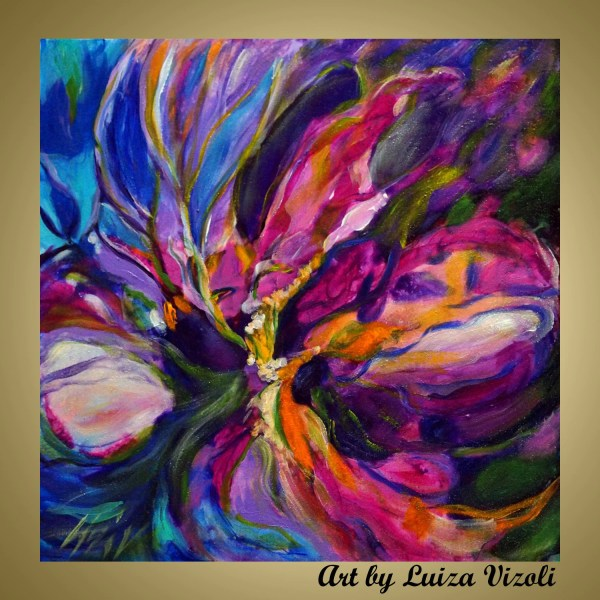 Abstract Flower Paintings Iris