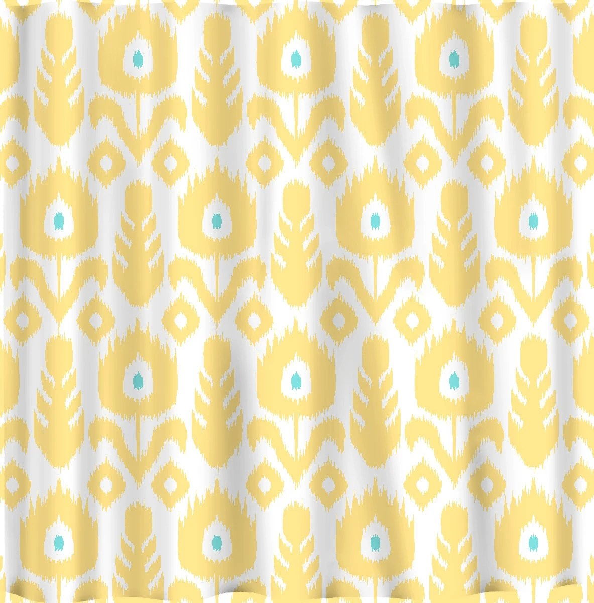 Blue Shower Curtain Etsy