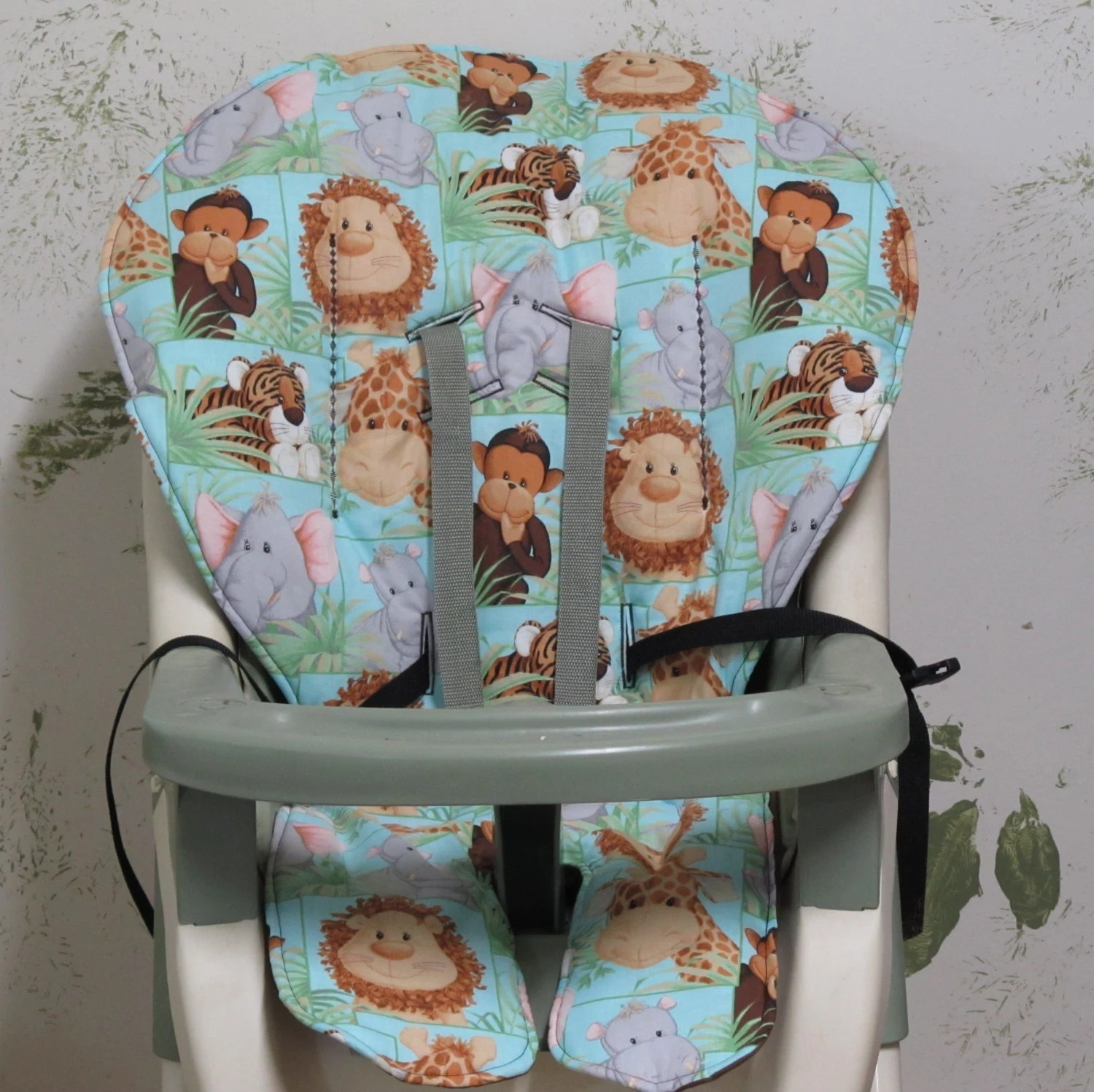 high chair pad graco paint fabric cover replacement jungle babies