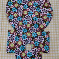Evenflo High Chair Cover Small Fold Up Replacement Pad Coverfun Flowers By