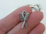 bulk 30 hair brush and comb charms