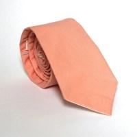 Men's Tie Solid Peach Medium Peach Necktie by HandmadeByEmy