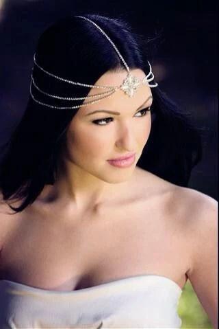 Mara Bohemian Goddess Vintage Jeweled Headband Head Piece