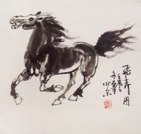 original horse painting chinese painting ink painting