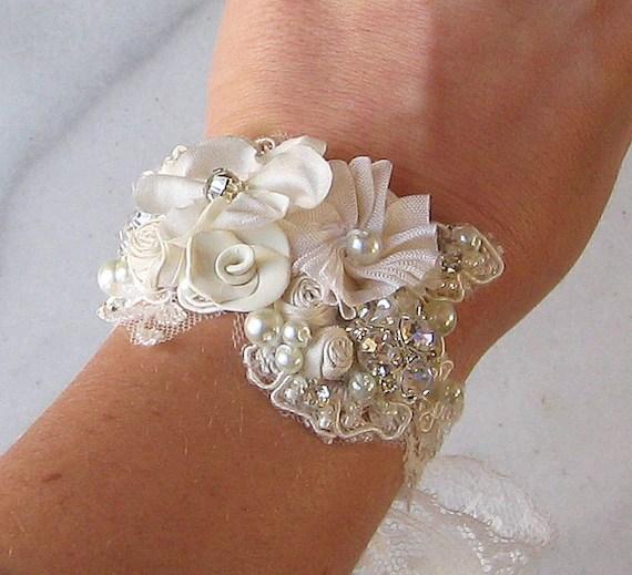 Vintage Style Bridal Cuff Custom Rustic Wedding Bracelet