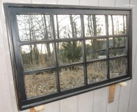 Distressed Framed Mirror Window Mirror window pane Window