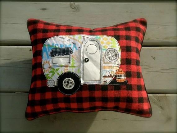 Little Vintage Camper Pillow decorative accent pillow
