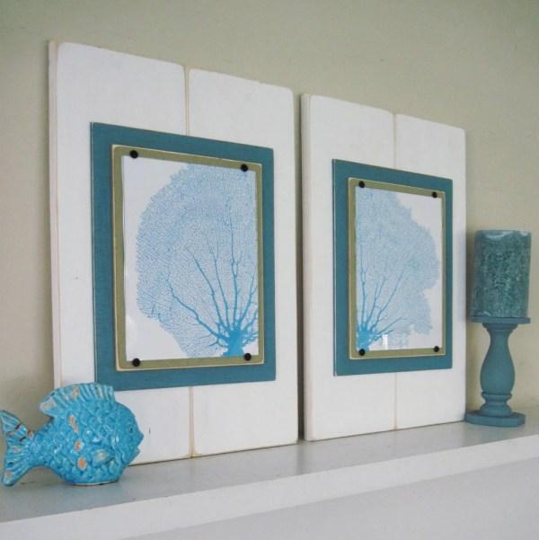 Sea Fan Wall Art Set Of 2 Framed Prints